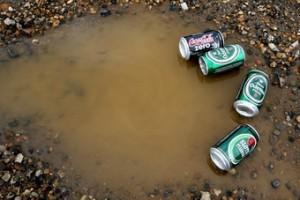 øldåser affald hostrup