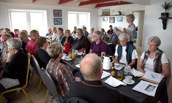 Formand Ingrid M. Schmidt gav en mundtlig beretning på generalforsamlingen. Foto: Peter Jessen